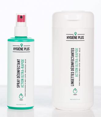 desinfection rapide materiel coiffure esthetiques spray lingettes hygiene plus